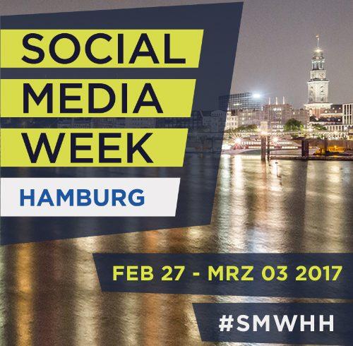 Banner der Social Media week 2017 in Hamburg