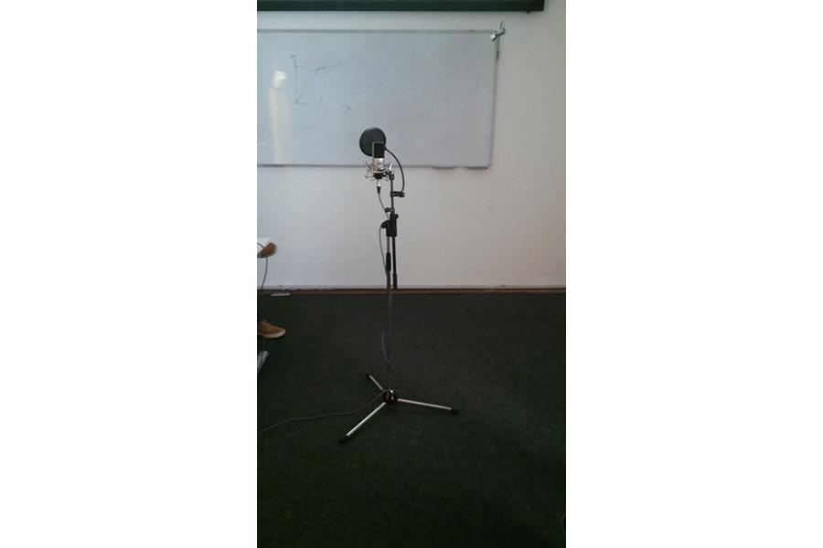 Ein Mikrofon, welches wir aufgebaut haben - Logic Workshop