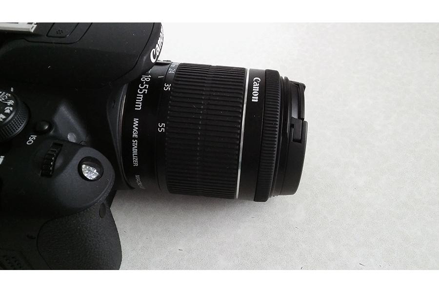 Kamera Objektiv von der Seite