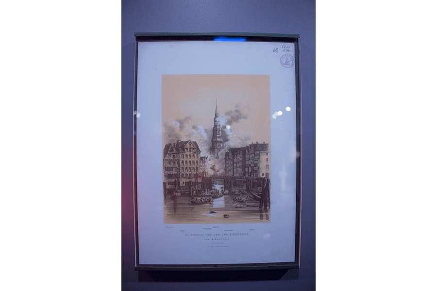 Bild in der Krypta des Nikolaiturms