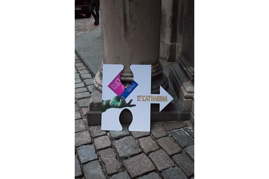 Puzzleteil welches den Weg in die St. Katharinen Kirche zeigt