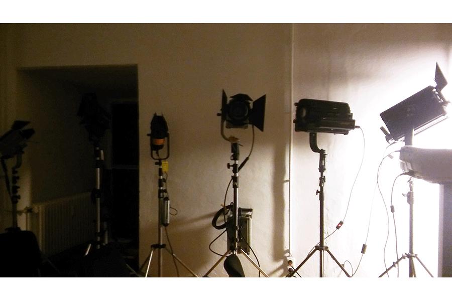 Aufgebaute Lampen