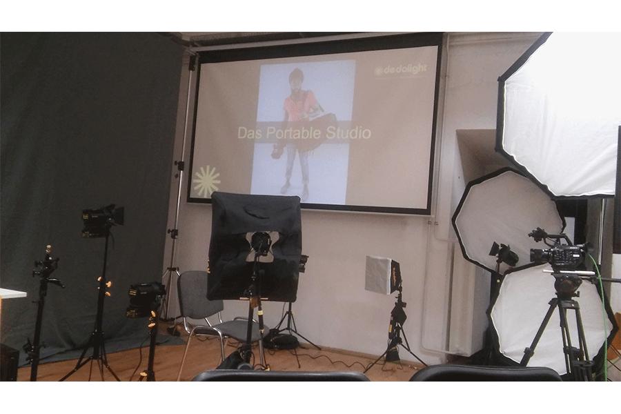 Das portable Studio in der mittleren Ausführung